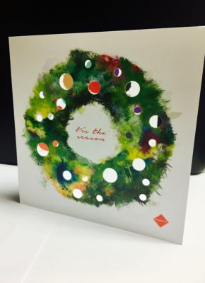 2016 Christmas Card using a die-cut